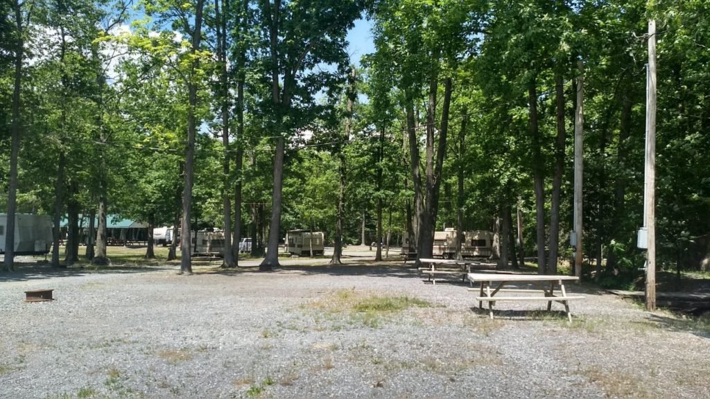 Kingdom Fellowship tent site lodging at Roxbury Holiness Camp